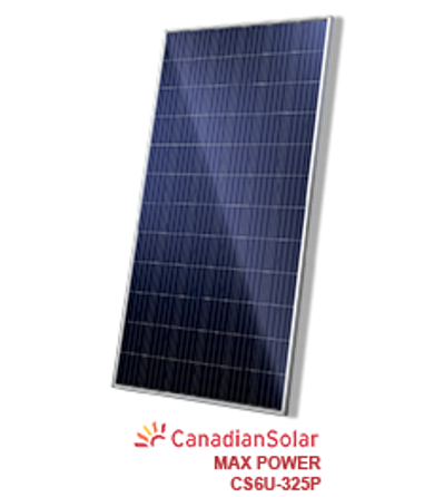 325W Canadian Solar CS6U-325P MAXPOWER 72-Cell Solar Panel