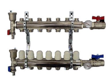 "Wasser 1"" Manifold Sets Less Adapters, 6 Loop"