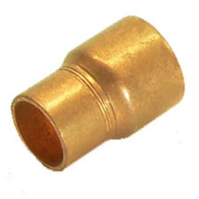 "Reducing Copper Coupler 3/4"" x 1/2"""