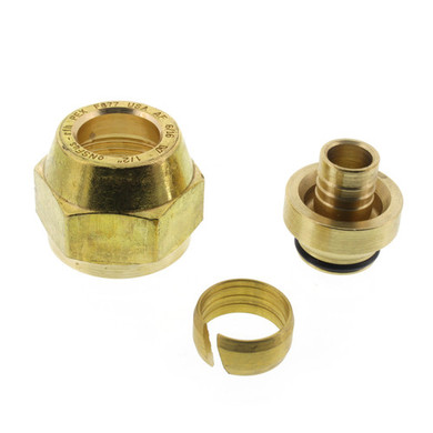 """Uponor 1/2"""" QS-style Fitting Assembly, R20 thread"""