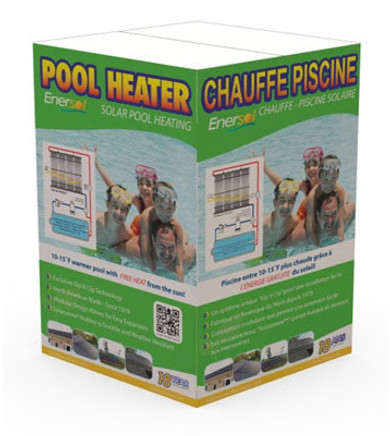1' x 6' - (6 sq.ft.) Enersol Solar Heater