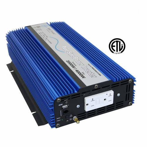 2000 Watt Pure Sine Wave Inverter 12v DC