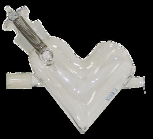 Ultra Micro V-shape Mixer_glass vessel