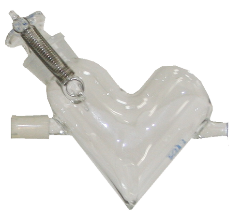 Glass vessel for Micro V-shape Mixer  VM-2 & W-3 V-V-G-0050