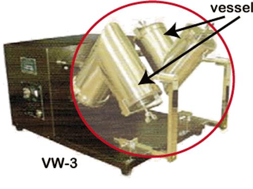 Micro V-shape Double Mixer main unit W-3 (no vessel)