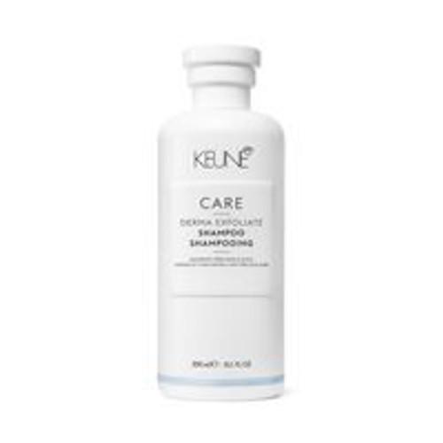 CARE DERMA EXFOLIATE SHAMPOO This scalp-clearing shampoo de-flakes, refines and rebalances the scalp's natural function. It has mild cleansing and clearing properties and is especially suited to those with oily or dry hair and itchy, irritated or dandruff-prone scalps. Active ingredients like Octopirox and Liposomes soothe, clear dandruff and prevent new dandruff from forming. The shampoo's anti-bacterial properties relax the sebaceous glands, relieving itch and irritation. The result: a clear, calm scalp and shiny, healthy hair.