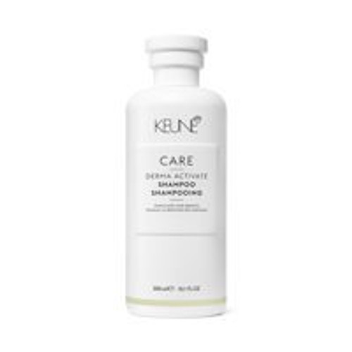 CARE DERMA ACTIVATE SHAMPOO Derma Activate Shampoo is a lasting solution for temporary hair loss. In many cases, hair loss can be prevented, slowed down or even stopped by stimulating the scalp's metabolism. Rejuvenator Technology penetrates the scalp cells, ensuring that liposomes gradually transfer essential minerals, biotin and hair growth stimulants like takanol and caffeine. Octopirox and liposomes prevent flaking. This rejuvenating shampoo is best suited to those with sensitive scalps and fine, thinning hair. After repeated use, the hair will have more body, volume and shine and the scalp's natural function is restored.