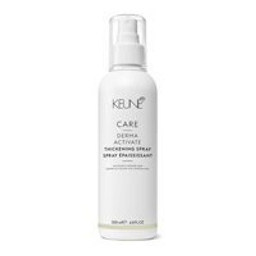 CARE DERMA ACTIVATE THICKENING SPRAY A leave-in spray for fine hair that does as its name suggests: it thickens and adds body. Vitamin H improves the Keratin resulting in stronger hair and a decrease in the number of hairs falling out. Provitamin B5 strengthens the hair and thickens the hair structure.