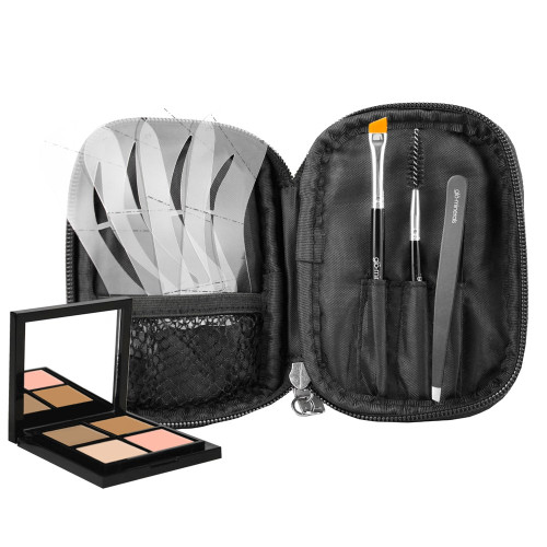 Glo Minerals Brow Collection Kit - Taupe  This all-inclusive collection is everything you need to create gorgeous, face-flattering brows in a convenient zippered bag. DESCRIPTION  This all-inclusive collection is everything you need to create gorgeous, face-flattering brows in a convenient zippered bag. The Glo Minerals Brow Collection includes: 4 x Brow Stencils 1 x Brow Brush 1 x Spoolie Brush 1 x Tweezers 1 x Brow Powder Duo 1 x Brow Wax 1 x Brow Highlighter Also included is an easy step by step guide for brow shaping and product application.  APPLICATION  Please refer to individual products for further information.  ACTIVE INGREDIENTS  Please refer to individual products for further information.