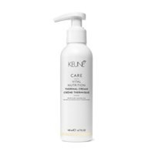 CARE VITAL NUTRITION THERMAL CREAM A revitalizing cream that protects brittle, damaged hair against heat styling tools. Use it before styling with flatirons, curling irons, and hairdryers.