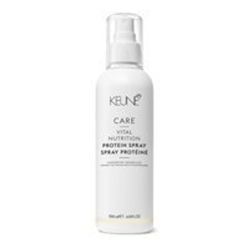 CARE VITAL NUTRITION PROTEIN SPRAY This multi-purpose conditioning spray is especially suited for those with dry and damaged hair. It protects the scalp and hair before, during and after coloring or forming treatments. This spray also moisturizes, adds shine and makes the hair easy to comb through.