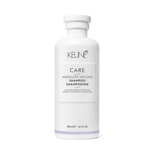 CARE ABSOLUTE VOLUME SHAMPOO A gentle cleansing shampoo that builds volume without making the hair heavy. Wheat proteins penetrate and thicken the hair, adding volume and shine. Liquid keratin increases the diameter of each strand, creating voluptuous volume and incredible shine.