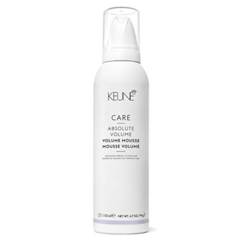 CARE ABSOLUTE VOLUME MOUSSE A volumizing, thickening crème mousse that adds body and shine while protecting the hair from heat styling tools. At the same time, Provitamin B5 works to condition and detangle.