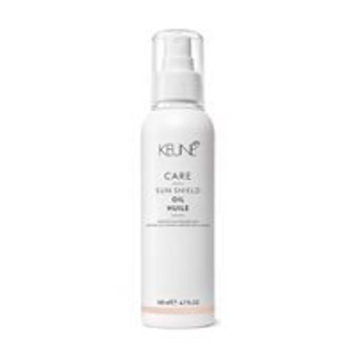 CARE SUN SHIELD OIL This luscious hair oil protects tresses from harmful UV rays and forms a moisture-locking barrier around each strand to prevent your hair from drying out. Enriched with SPF 8.