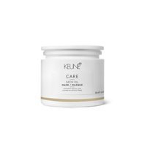 CARE SATIN OIL MASK This pampering mask intensely hydrates, nourishes and treats each individual strand from the inside out. After rinsing, hair is left irresistibly soft, silky and shiny.
