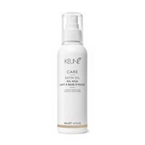 CARE SATIN OIL OIL MILK This luxurious treatment is so light, it's instantly absorbed into the hair. The weightless formula boosts the hair's moisture levels without adding grease. Your hair is left wonderfully soft and shiny.