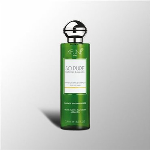 SO PURE MOISTURIZING SHAMPOO Restores and regulates the natural hydration and strenght to the hair and scalp. The hair will be moisturized leaving it soft and shiny.The aroma experience offers body and mind the feeling of well-being and luxury.