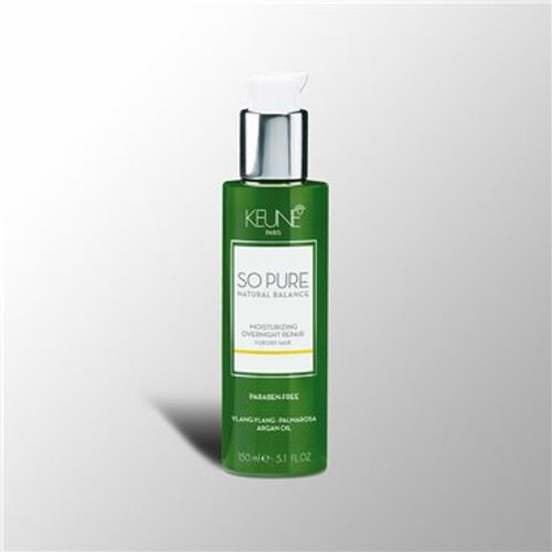 SO PURE MOISTURIZING OVERNIGHT REPAIR Restores the natural hydration and shine during sleep. Repairs split ends and leaves the hair silky soft. Strengthens, moisturizes and balances the hair. The aroma experience offers body and mind the feeling of well-being and luxury