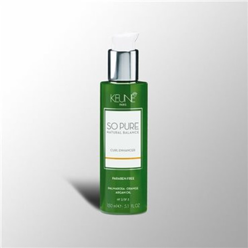 SO PURE CURL ENHANCER Lightweight curl cream. Creates springy curls and adds definition to naturally wavy, curly or permed hair. Helps to hydrate and nourish hair, leaving it smooth and shiny.