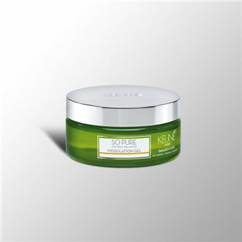 SO PURE MODULATION GEL Ultra strong styling gel without being sticky, for wet or dry styling. Provides body, volume and shine