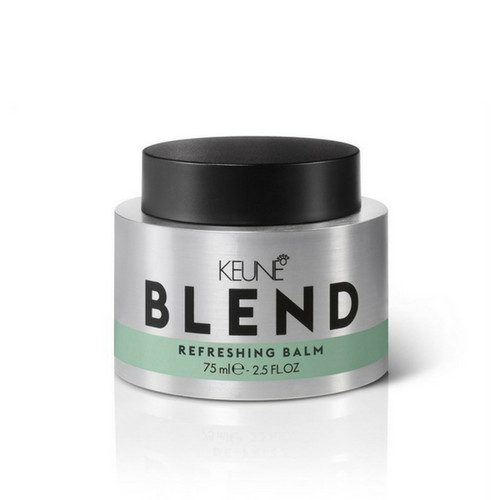 Keune Blend Refreshing Balm It's like Refreshing Spray and Paste had a baby. One part dry shampoo, one part styling balm, Refreshing Balm emphasizes second-day texture while absorbing oil for a tousled, fresh look.