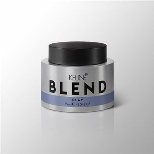 BLEND CLAY The ultimate matte texturiser for bold definition. Super strong mineral clay holds the hair in place and prevents shine for that perfectly imperfect 'do.