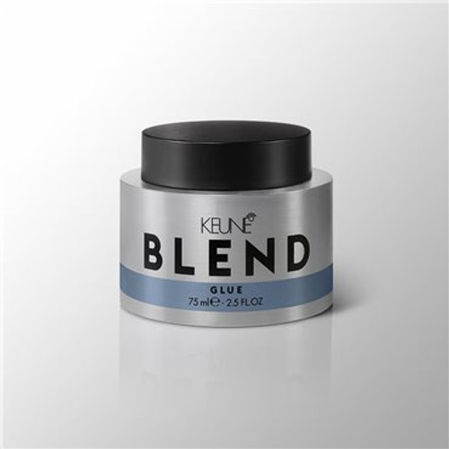 BLEND GLUE For ultra-strong, ultra-matte, ultra-stylish hair that can survive a hurricane. Water-resistant glue locks your 'do in place without making it sticky.