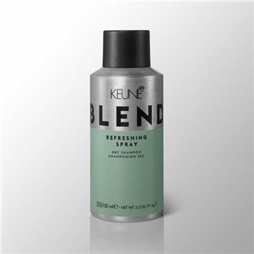 BLEND REFRESHING SPRAY No time to wash? No worries. Refresh roots with this genius aerosol spray. It absorbs oils and volumises for good-as-new second-day hair.