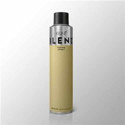 BLEND FIXING SPRAY This powerhouse product ensures maximum hold and big volume that lasts all day. It's super strong, but won't give you helmet hair. It's easy to brush out before bed, too.