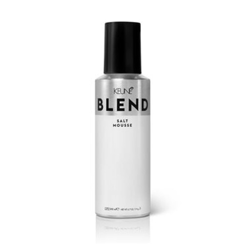 BLEND SALT MOUSSE Create tousled, wavy, texturized waves with Blend Salt Mousse, inspired by how Parisian girls wear their hair.  Salt Mousse adds volume, texture and lift. It's perfect to add oomph to fine, thin hair and for curly girls who want bigger, beachier waves. Salt Mousse is made with actual sea salt, which adds texture without drying out your hair.  Here's how to use it: apply a generous amount of mousse work through using your hands. Blow-dry for extra texture and volume. Blend products are designed to be mixed and match—Salt Mousse is no exception! It works great with Volume Powder, Sea Salt Spray, Gel, Fixing Spray and Gloss Spray.