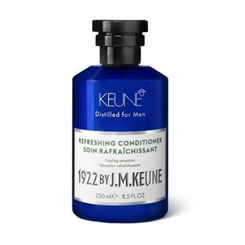 1922 BY J.M. KEUNE REFRESHING CONDITIONER  This cooling conditioner gives a kick of minty-freshness. Tingles, detangles, and moisturizes. Contains creatine, hemp, menthol and peppermint.