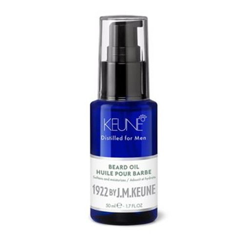 1922 BY J.M. KEUNE BEARD OIL  Rich oil blend for a perfectly groomed beard. Enriched with sweet almond oil, which softens, moisturizes and adds natural shine. Also contains apricot kernel oil, avocado oil and hemp. Hold: 2/10, shine: 10/10.
