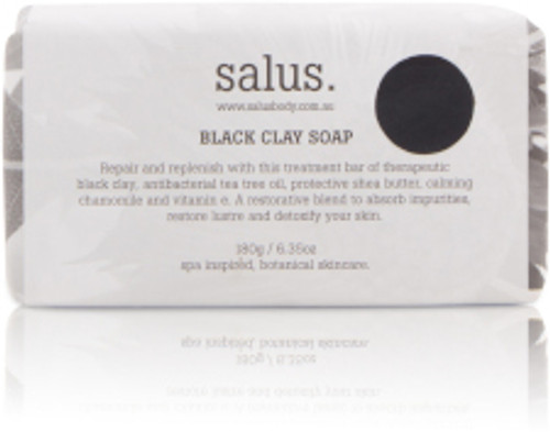 Repair and replenish with this treatment bar of therapeutic black clay, antibacterial tea tree oil, protective shea butter, calming chamomile and vitamin e. Free from synthetic fragrance and colour. Suitable for face and body.