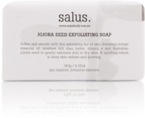 Soften and smooth with this exfoliating bar of skin cleansing orange essential oil, moisture rich shea butter, vitamin e and Australian jojoba seed to gently exfoliate dull or dry skin. An uplifting blend to keep skin radiant and glowing.