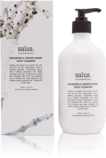 A soothing and replenishing SLS free body wash formulated with hydrating aloe, cleansing chamomile, certified organic rosemary leaf extract and a rejuvenating blend of geranium, juniper berry, grapefruit and rose essential oils.
