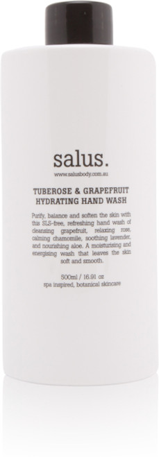 A purifying and softening SLS free hand wash of cleansing grapefruit, relaxing rose, calming chamomile, soothing lavender and nourishing aloe. A moisturising and energising wash that leaves the skin soft and smooth.