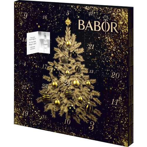 Advent calendar 24 perfectly coordinated active agent concentrates in the new BABOR Advent Calendar. Get beautifully radiant and youthful skin under the Christmas tree and a WOW effect over the Christmas holidays.