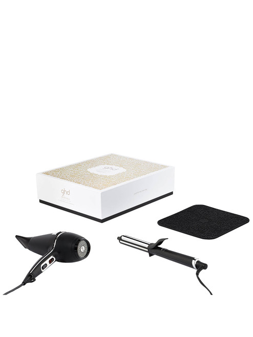 ghd Deluxe Dry & Curl Arctic Gold Gift Set