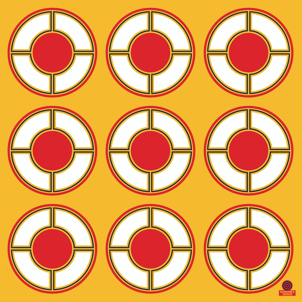 Peel and Stick Pistol Targets