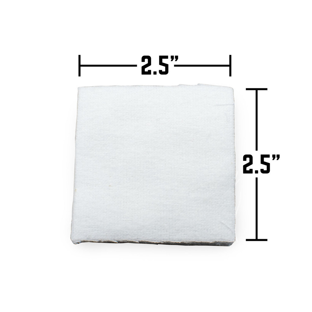 """2.5"""" Cotton Gun Cleaning Patches- 100 count"""