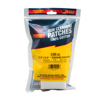 "2.5"" Cotton Gun Cleaning Patches- 100 count"
