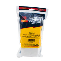 "3"" Cotton Gun Cleaning Patches- 100 count"