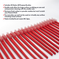 Nylon All Purpose Receiver Brushes 20 Pack