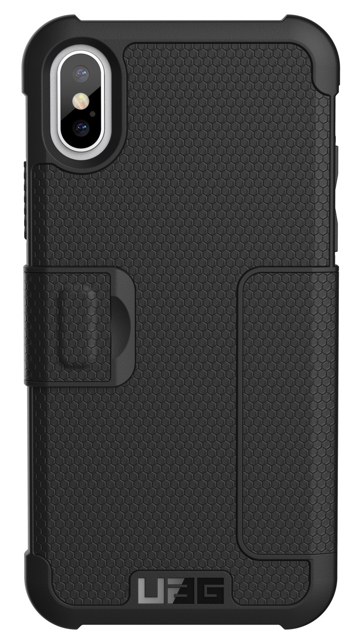newest f3d53 db2cd UAG Metropolis Folio Wallet Case for iPhone X/Xs - Black