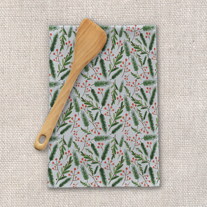 Christmas Branch Tea Towel