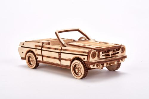 Natural Solid Wooden 3D Modern Cabriolet