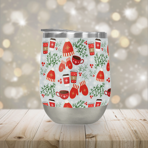 Coffee & Mittens Stemless Wine Tumbler