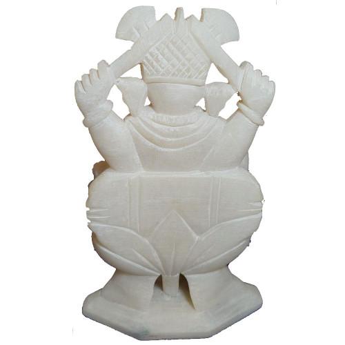 2 Inches White Marble Ganesha