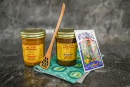 Honey Spreads,honey dipper, wildflower seeds Spring is Here Gift Box