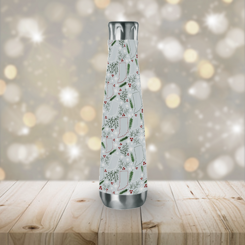 Indiana Christmas Peristyle Water Bottle